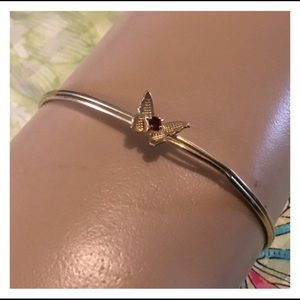 Vintage Unresearched Gold Butterfly Bangle